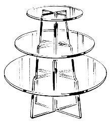 "3-Tier Round Riser (10"", 14"", 18"") Clear/--- Lot of 5 each"