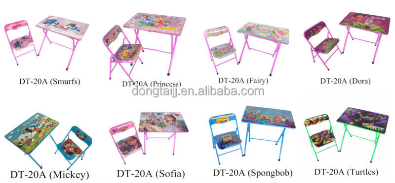 Dt 20a Kids Study Table And Chair Kids Folding Table And Thair Set