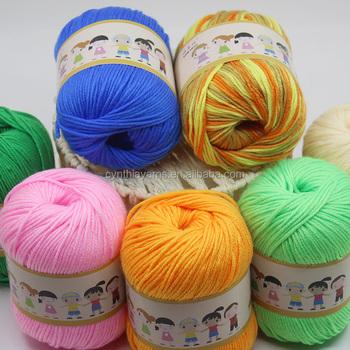 Fashionable Milk Cotton Yarn Fancy Crochet Yarn With Free Yarn
