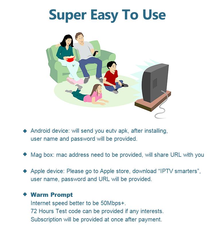 Toptan IPTV Bayi Kontrol Paneli Hesabı Abonelik 1 Yıl Canlı Kanallar VOD Içerik Servisi Sağlayıcıları