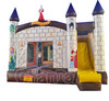 Commercial inflatable bouncy castle with slide, inflatable bouncer combo