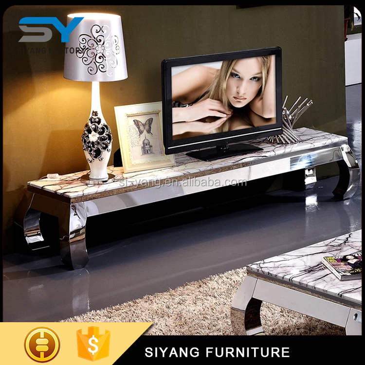 TV cabinet with showcase lcd tv cabinet designs tv stand made in China DS006