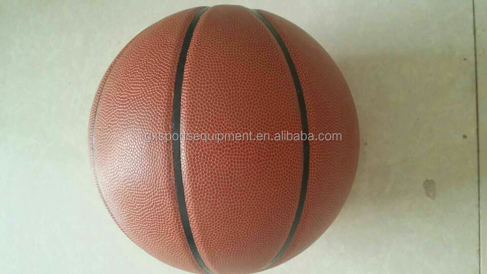 standard official 7# PU basketball OEM served