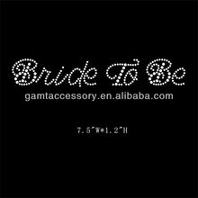 China price wholesale rhinestone Bride to be hoxfix transfer for T-shirt