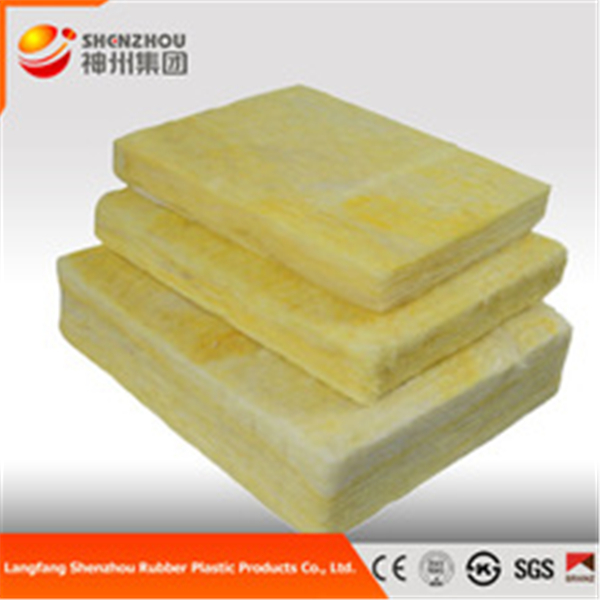 accoustical insulation sound absorbing fiber glass wool 80kg/m3 glass wool ac duct board