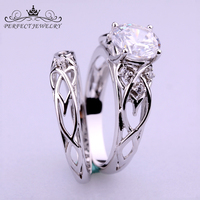 Fashion Jewelry Rings Diamond Engagement S925 Sterling Silver Wedding Ring For Women