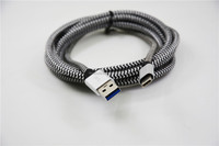 USB 3.1 Type C Cable Data Sync Transfer Fast Charger Speed Braided Nylon Metal Head USB 3.0 Extension Cable