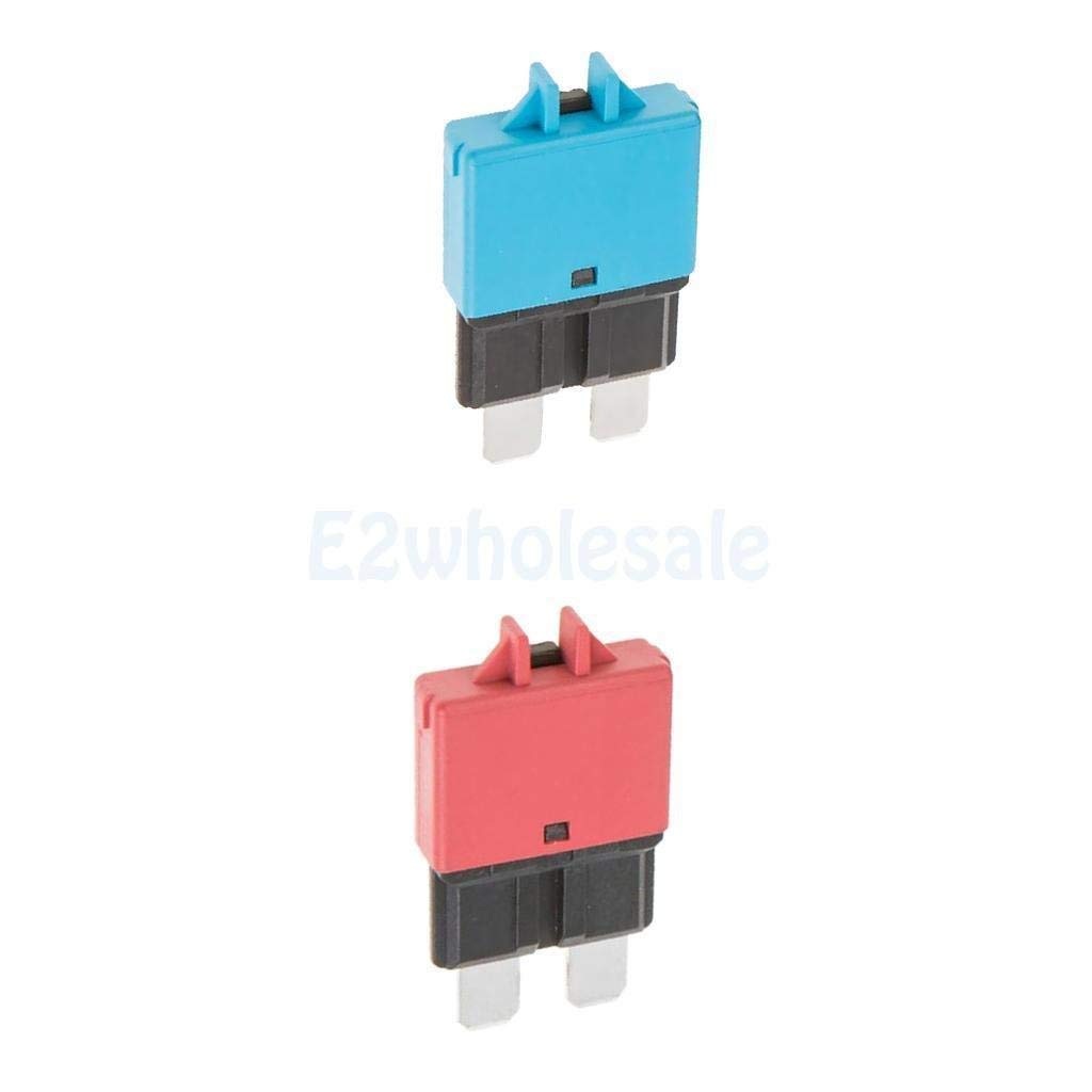 2pcs Automatic Resettable Fuse Auto Marine Circuit Breaker Blade 10A 15A 12V