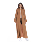 wholesale new muslim malaysia dress robe open abaya islamic women's loose clothing
