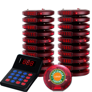 Artom Wireless guest coaster pager paging system for fasfood restaurant cafe queue management