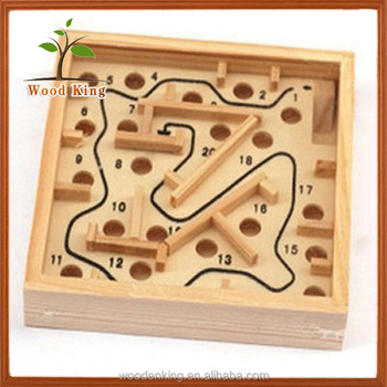 Custom Printing Your Own Logo The Palm Game Children Kids Educational Wooden Toy Maze Toy