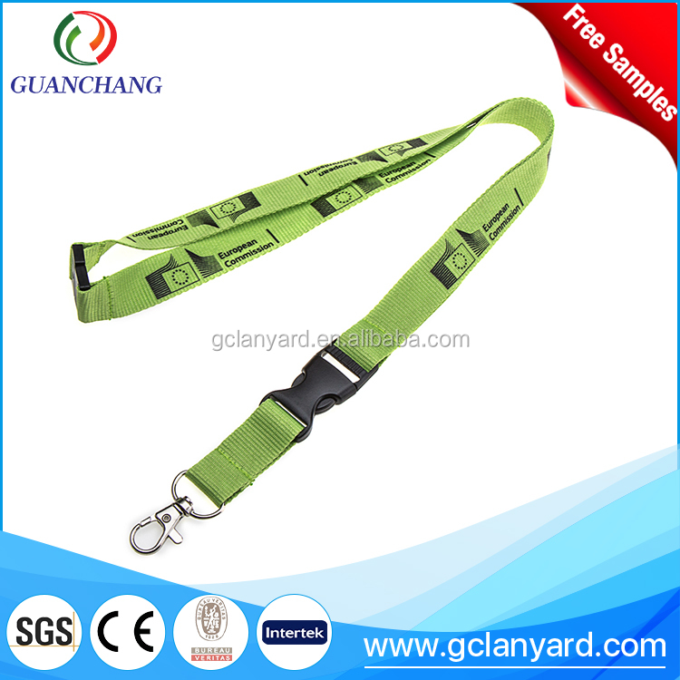 Cost price eco friendly supplier double ended embossed lanyard