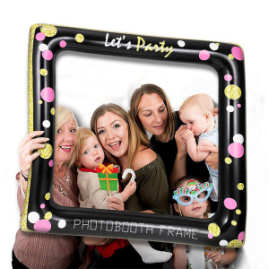 Hot sale custom fun party photo tools creative PVC inflatable photo frames