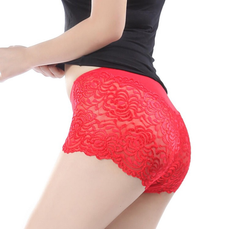a0d34d4bdf5 Get Quotations · New hot wholesale Mm plus size panties female 100% women s  cotton lace sexy high waist