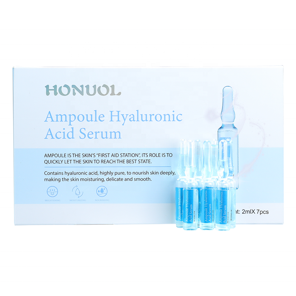 Private Label Stem Cell Ampul Pure Hyaluronzuur Ampul Gezicht Serum Huidverzorging