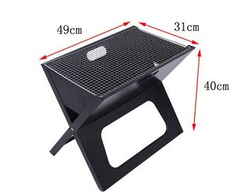 Foldable Fire Sense Notebook Charcoal Bbq Grill Outdoor Folding Steel Pit For Picnic