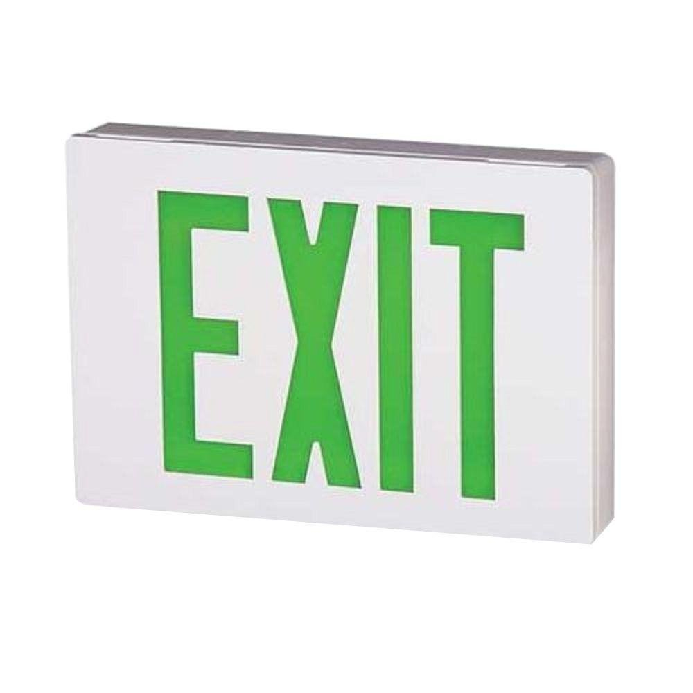 Lithonia Lighting LE S W 2 G EL N 2W LED Exit Sign, White
