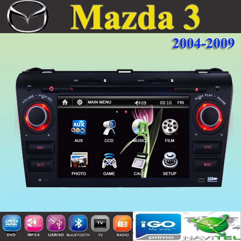 7 car dvd player gps navigation for mazda 3 mazda3. Black Bedroom Furniture Sets. Home Design Ideas