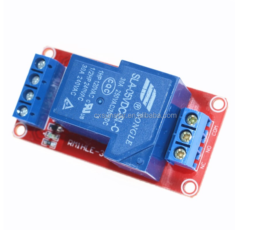 5V 30A Two-way isolation relay module High/low level trigger 5V 30A 1-Channel Relay Module+Electronic With Opsitive Sensor Board