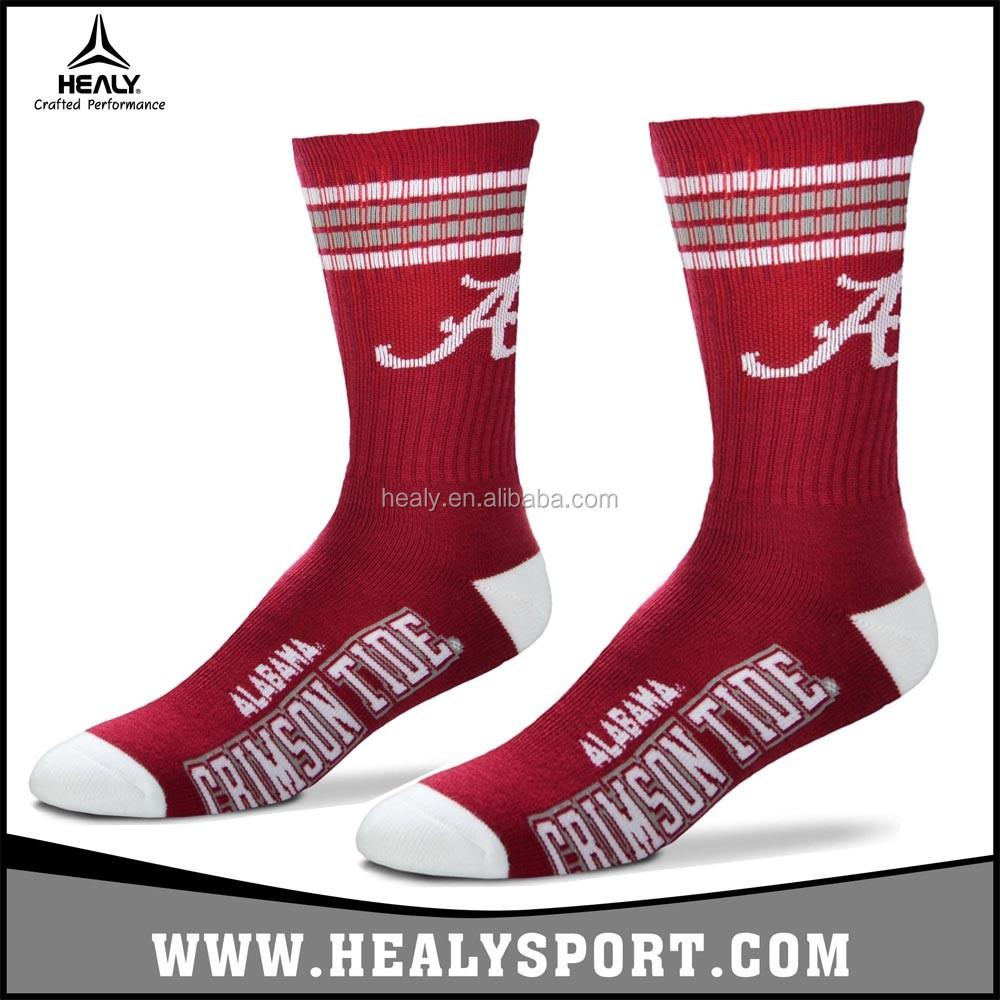 3e85937d6a5 Classic design Custom logo Cotton Crew Men's Sport Basketball/Running Socks