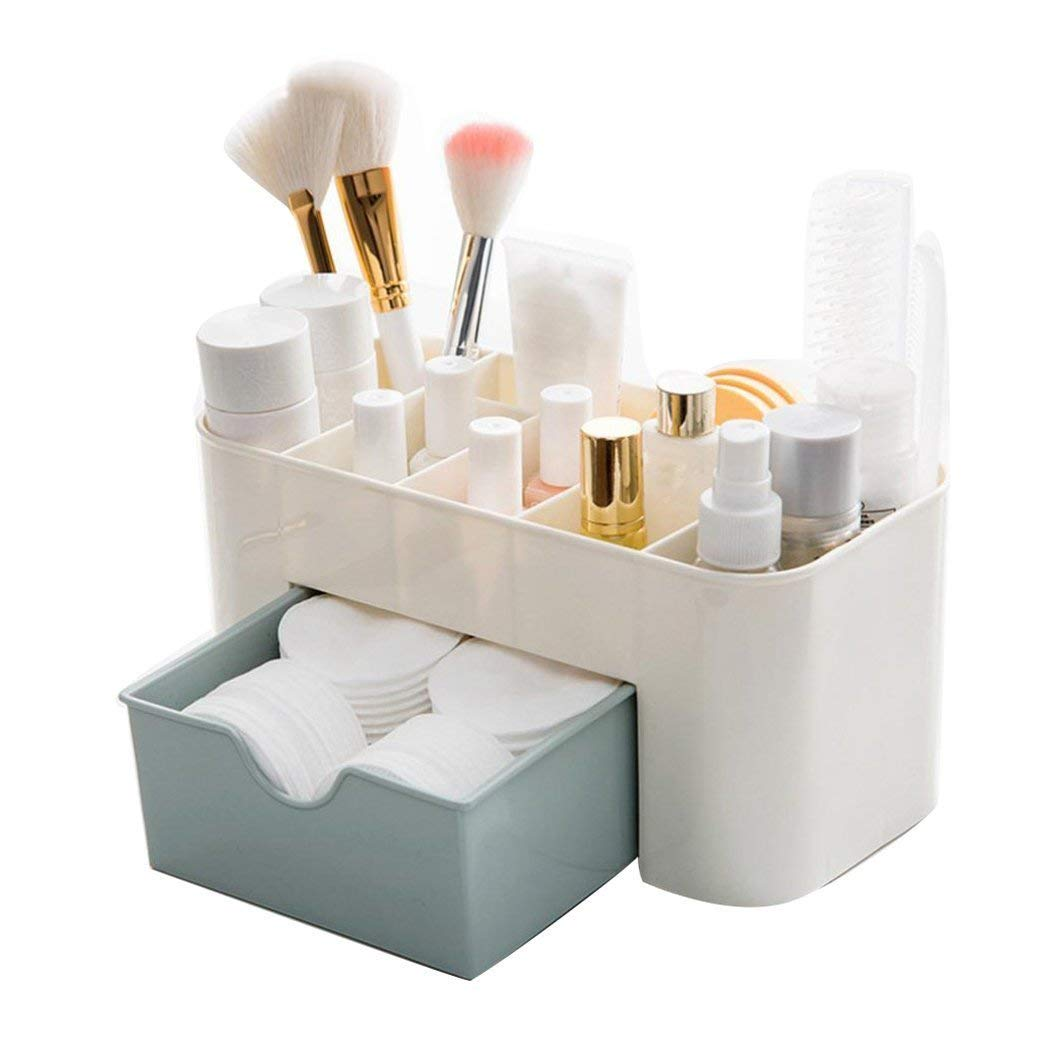 Bon Get Quotations · OWIKAR Makeup Drawer Organizer, Cosmetic Jewelry Organizer  Office Storage Drawer Desk Makeup Case Makeup Brush