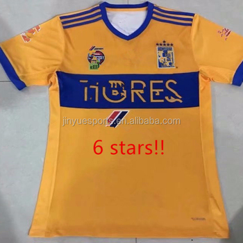 2817868fb83 Top Thailand Quality 2017 2018 Tigres 6 Stars Soccer Jersey - Buy ...