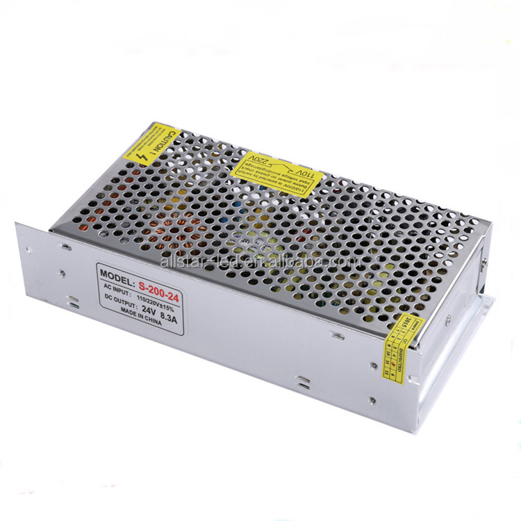 24v dc power supply ac/dc 24v 200w power supply for led lighting with 2 years warranty