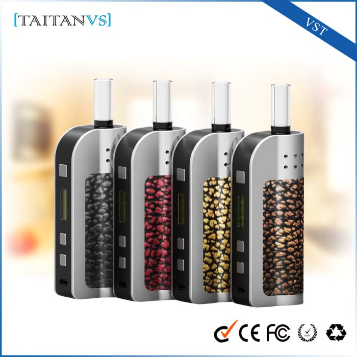 2016 latest technology products wickless dry herbal vaporizer e cig mod