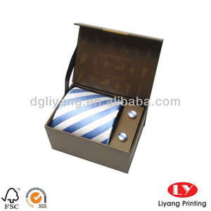 High Class Cuff Link Paper bow tie gift Box with your design