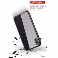 For iphone 5G/5S/SE, 2 in 1 tempered glass luxury phone case tpu bumper , for apple iphone 5 hybrid cellphone case