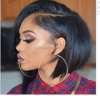 2019 10 Short Bob Straight 100 Virgin Human Hair Lace Front Wigs