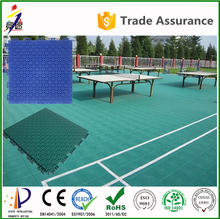 100% new pp plastic raw material better than rubber wooden pvc table tennis court surface