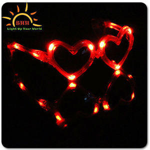 Heart fashional led sunglasses for party had passes CEand ROHS