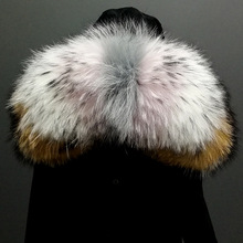 2018 Wholesale Colorful Strips Raccoon Fur Trim For Hood
