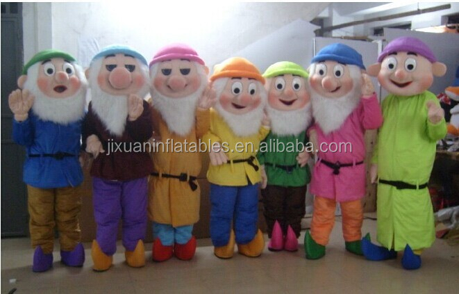 famous cartoon seven dwarfs mascot costumes for sale