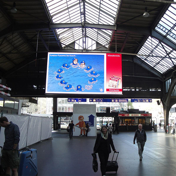 led video wall indoor large advertising led display for Spain