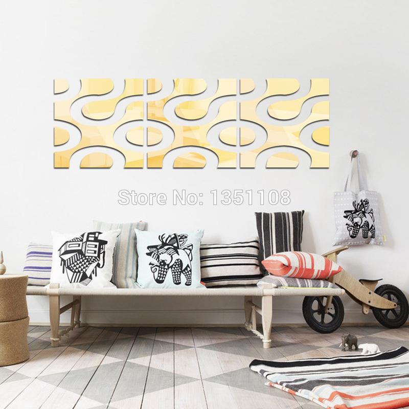Cheap Home Decor Stickers 3d Diy Acrylic Mirror Wall