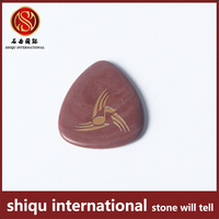 2016 Musical Instruments And Accessories Natural Semi Precious Stone Red Agate String Instrument Custom Guitar Picks