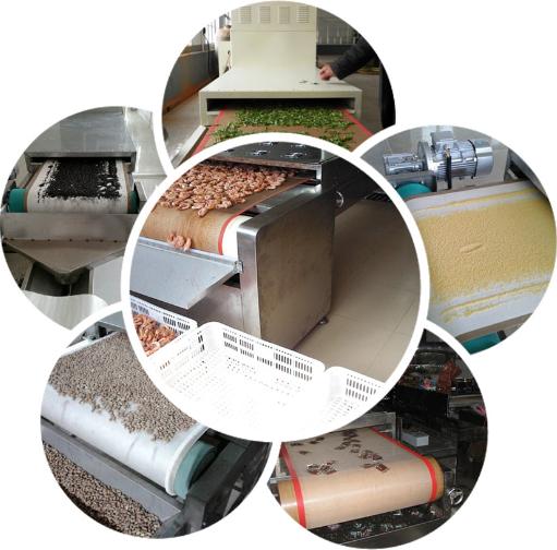 Multi Layer Belt Microwave Hemp Fruit Conveyor Dryer
