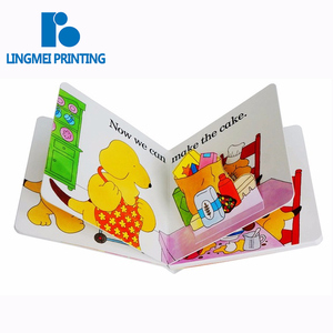 Custom services printing board book english short story for kids baby memory book