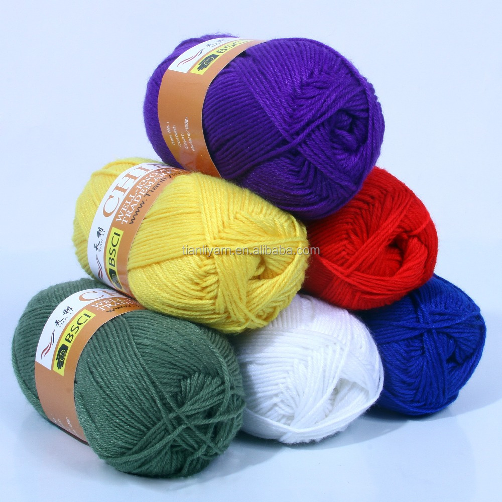 100 Polyester Chunky Yarn For Hand Knitting textile yarn