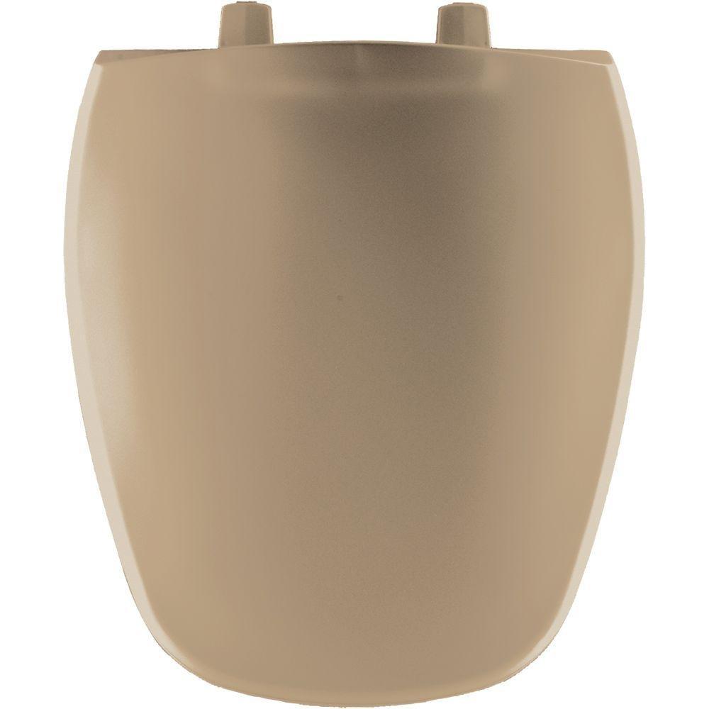 Bemis 1240200 148 Eljer Emblem Plastic Round Toilet Seat, Sandalwood