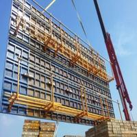 Steel frame wall formwork