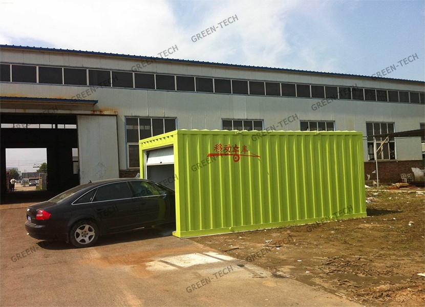 Ch la027 structure en acier pr fabriqu exp dition conteneur garage vendre buy garage - Garage prefabrique metallique ...