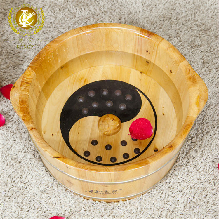 health care wooden foot basin with massage bead, promoting blood circulation