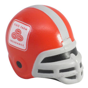Promotional pu foam football helmet antistress toy