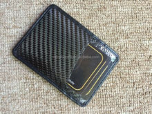 RFID Mens Carbon Fiber&Leather Credit Card Holder and Money Clip Wallet
