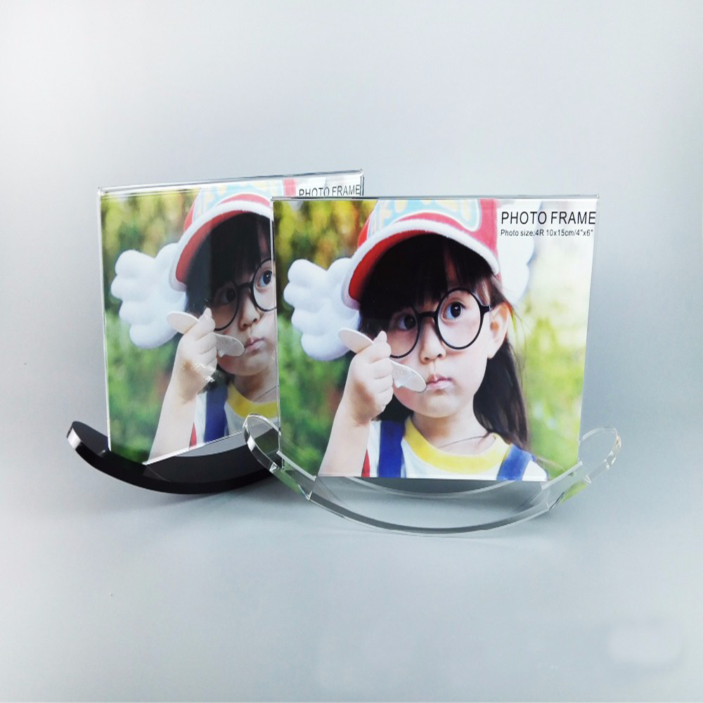 Professional Custom Factory Price Personalized Christmas Gifts Acrylic Plastic Beautiful Magnet Photo Picture Frame