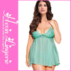 Accept OEM service light green soft material plus size sexy pregnant lingerie babydoll
