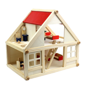 FQ brand kids toys furniture set pretend play toy children wooden toy doll house